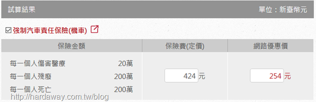 華南產物保險輕型機車機車強制險