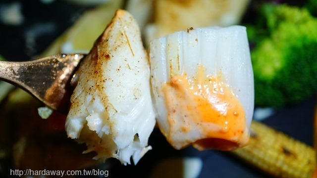 當日漁貨鮮紅條魚燒烤花枝佐辛辣醬