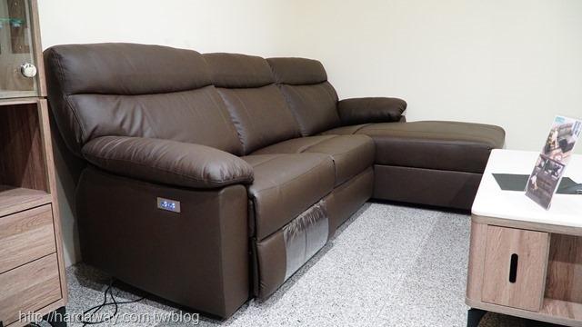 典雅大師尊榮牛皮L型電動沙發