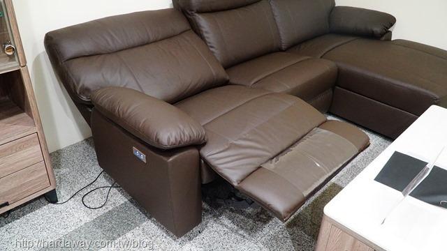 多瓦娜家居典雅大師尊榮牛皮L型電動沙發