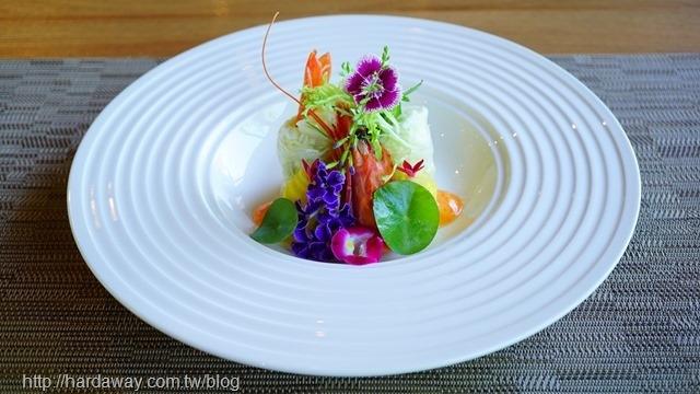 鮮蝦卵佐海甜蝦