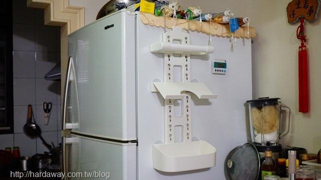 特力屋多功能冰箱收納架