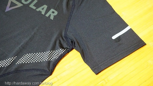 SPORT PRO斜肩變色龍字母運動機能短袖