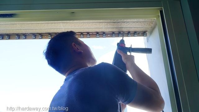谷賓精品隱形鐵窗施工過程