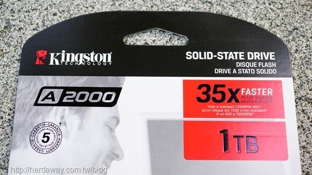 Kingston A2000固態硬碟