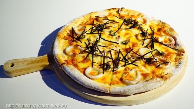 明太子中卷披薩