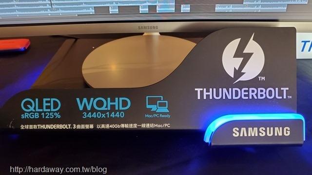 三星34吋Thunderbolt 3曲面顯示器