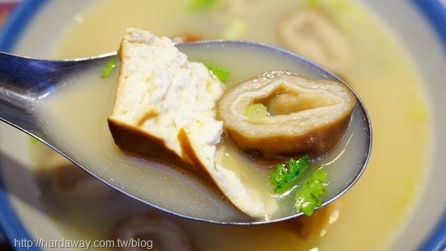 蘭芳麵食館大腸豆腐湯