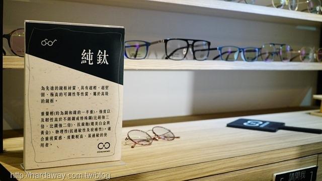 圈圈眼鏡純鈦鏡框