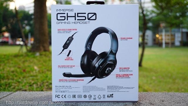 MSI IMMERSE GH50 GAMING電競耳機