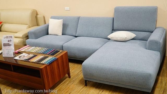 露易莎L型貓抓布沙發