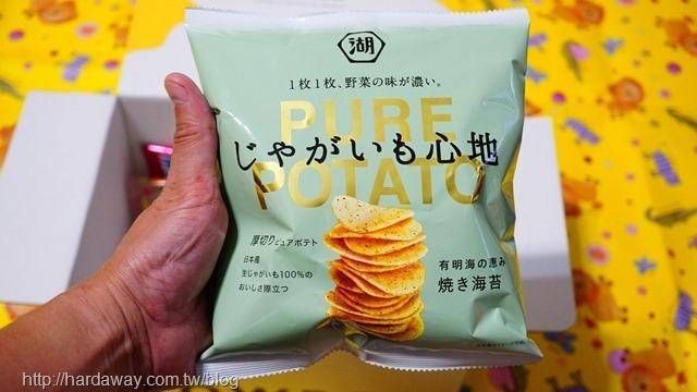 湖池屋PURE POTATO有明海紫菜口味洋芋片