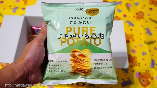 湖池屋PURE POTATO鹽味蔬菜洋芋片