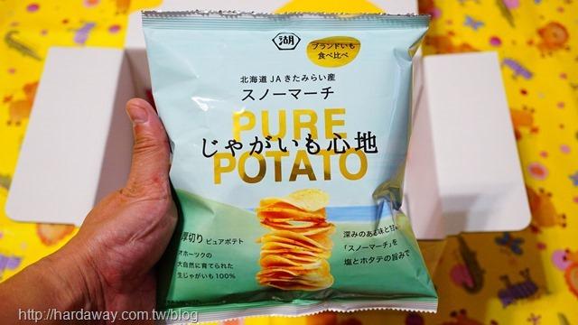 湖池屋PURE POTATO鹽味扇貝洋芋片