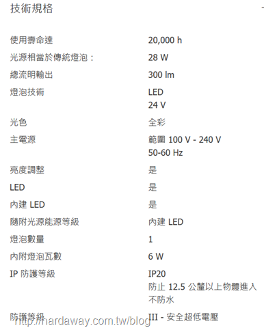 Philips hue go可攜式情境燈規格