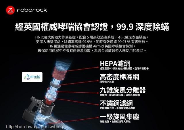 Roborock H6旗艦無線手持吸塵器特點