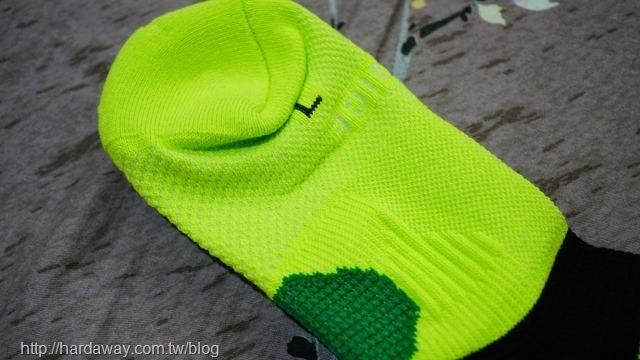 耐爾吉斯極度透氣足弓運動襪織法