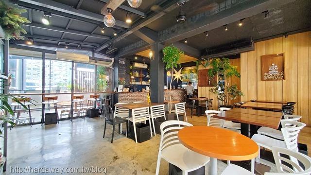 hecho做咖啡一店室內用餐空間