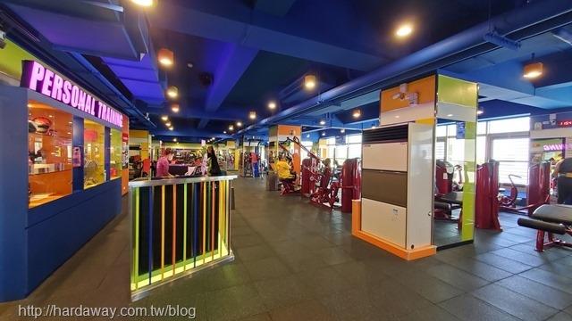World Gym台南善化店三樓環境