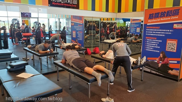 World Gym台南善化店筋膜放鬆區