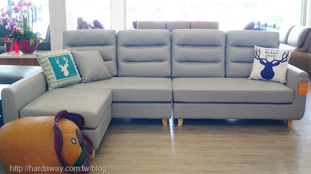 貓抓皮L型沙發
