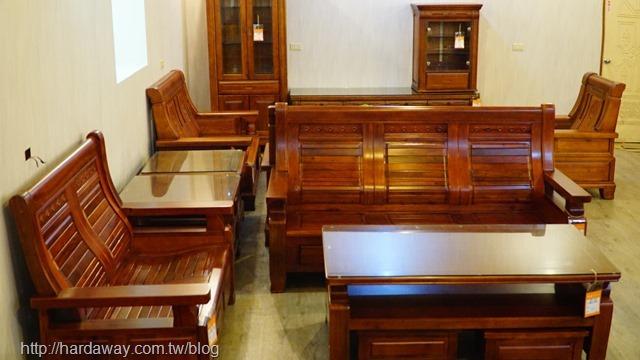 原木製板椅