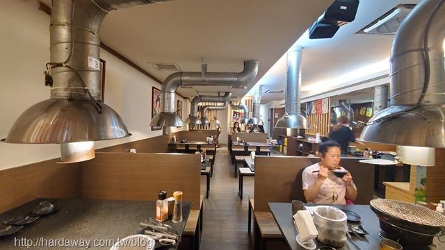 燒惑日式碳火燒肉店中和分店用餐區