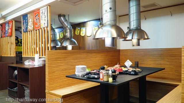 燒惑日式碳火燒肉店用餐區