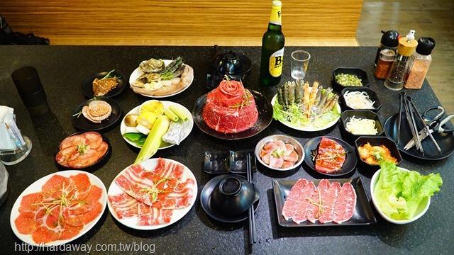 燒惑日式碳火燒肉店中和分店餐點