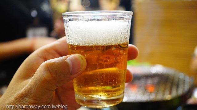 燒惑日式碳火燒肉店KIRIN Bar啤酒無限暢飲