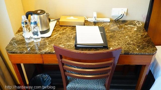 全國大飯店雙人房內部空間