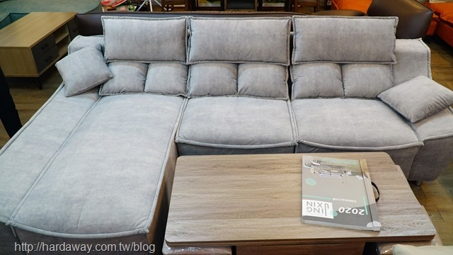 安德家具L型沙發