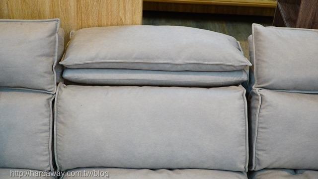 椅背靠枕可調整沙發