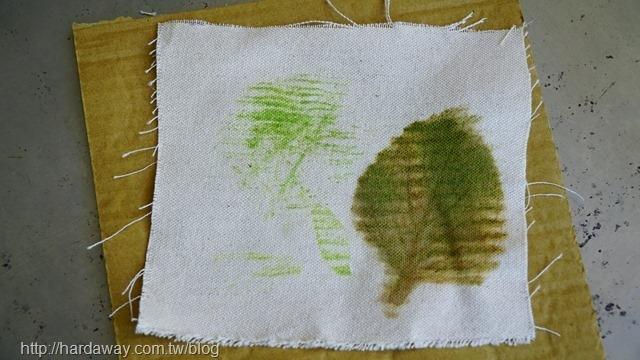 DIY樹葉拓印