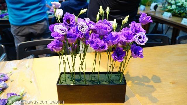 洋桔梗插花體驗