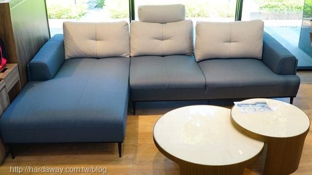 日本直人木業L型沙發