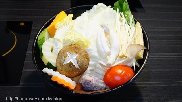 武鶴和牛火鍋菜盤