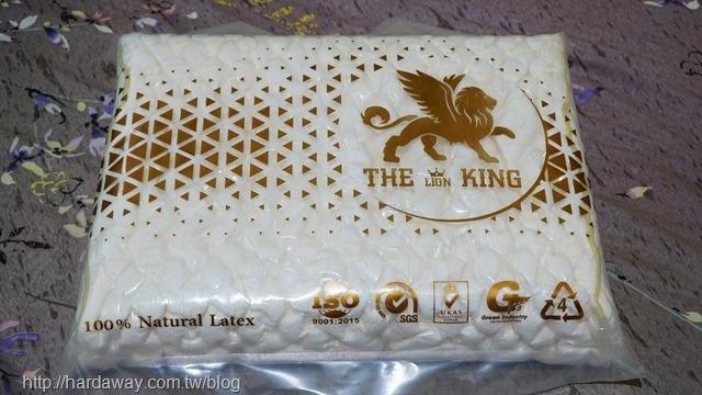 泰國THE LIONKING皇室乳膠絕美97%純天然乳膠枕