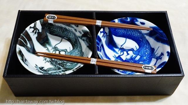 日本美濃燒龍飯碗禮盒