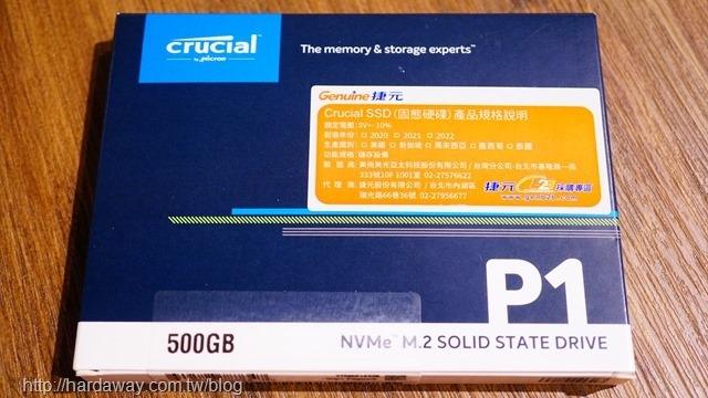 美光Micron Crucial P1 NVMe PCIe SSD