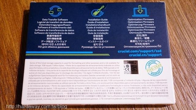 Micron Crucial P1 NVMe PCIe SSD保固