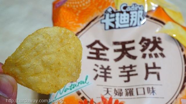 聯華食品卡廸那全天然洋芋片天婦羅口味