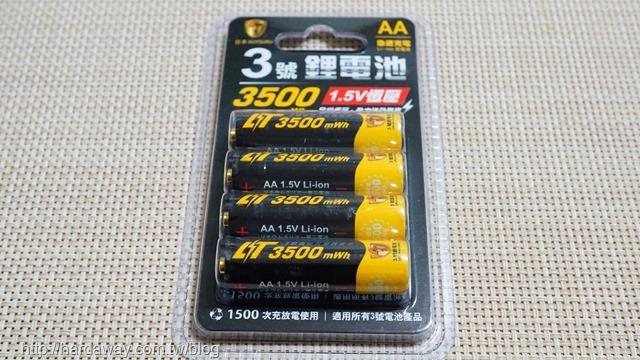 日本KOTSURU 3號恆壓可充式1.5V鋰電池