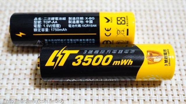 日本KOTSURU 3號AA恆壓可充式1.5V鋰電池