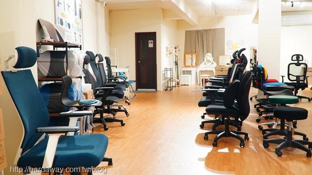 凱堡家居門市人體工學電腦椅展示