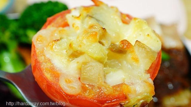 番茄焗白菜