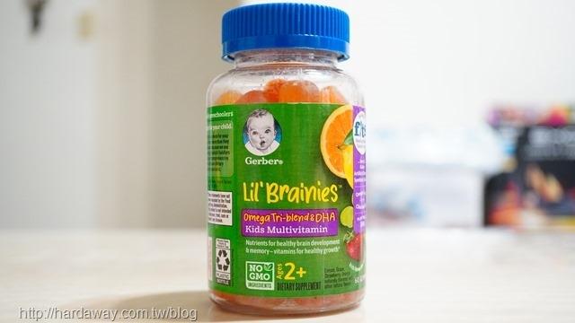 Gerber Lil Brainies歐米伽Tri-Blend和 DHA兒童綜合維生素