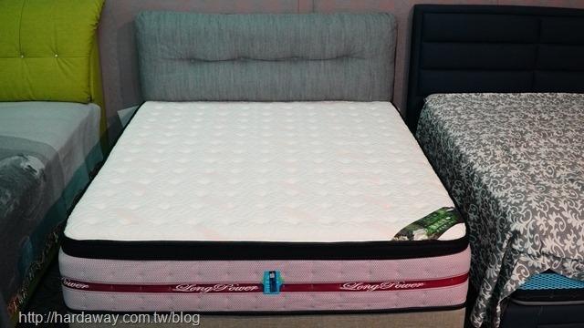 玫瑰膠原蛋白硬式獨立筒床墊