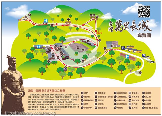 台灣萬里長城導覽圖