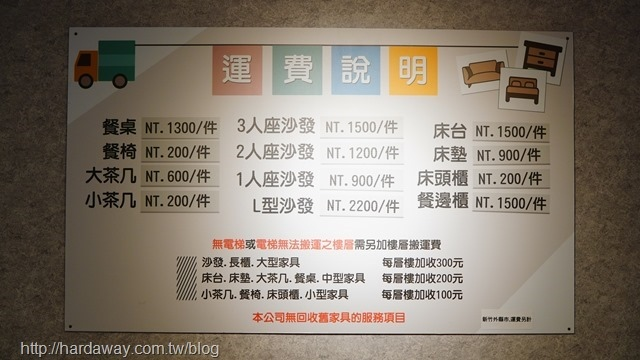 沙發先生商品運費